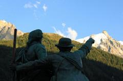Chamonix, direction le Mont Blanc