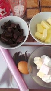 saucisson en chocolat: les ingrédients