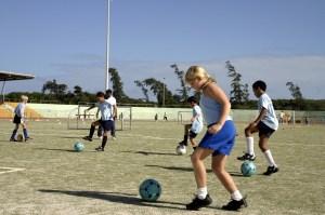les filles et les garçons, footballeuse