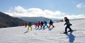 Lundi de Pâques, cours de ski