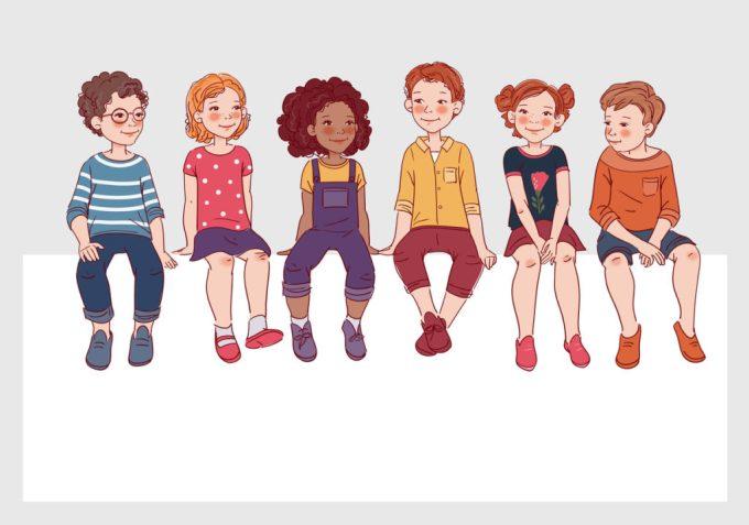 Illustration de 6 enfants