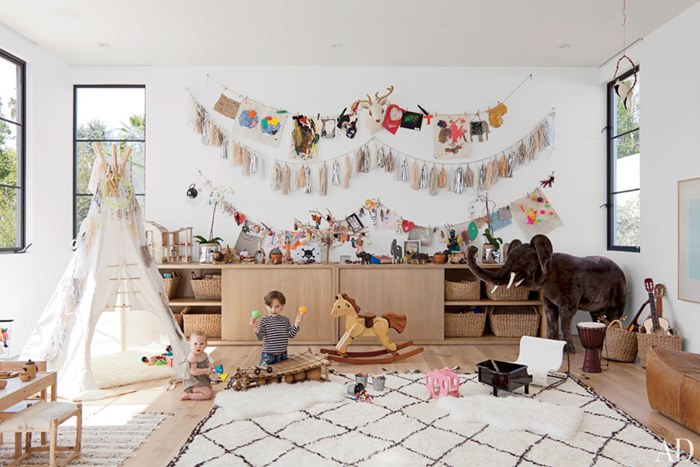 white bohemian hanging chair platform rocking chairs how to get the look: bohemian-style kids bedroom - petit & small