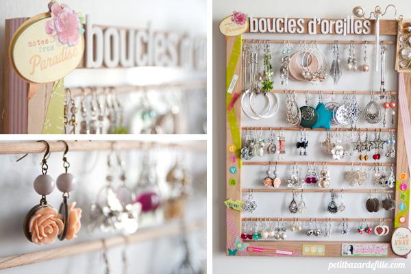 Do It Yourself Un Porte Boucles D Oreilles Petit Bazar De Fille