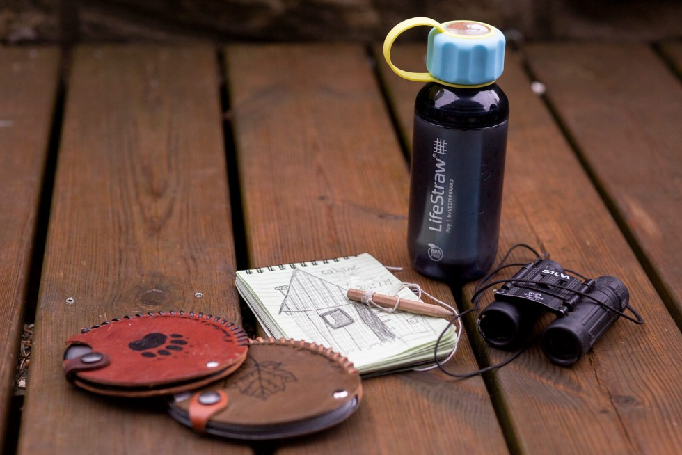 Carnet Rite in the Rain, gourde Lifestraw, éventails à empreintes