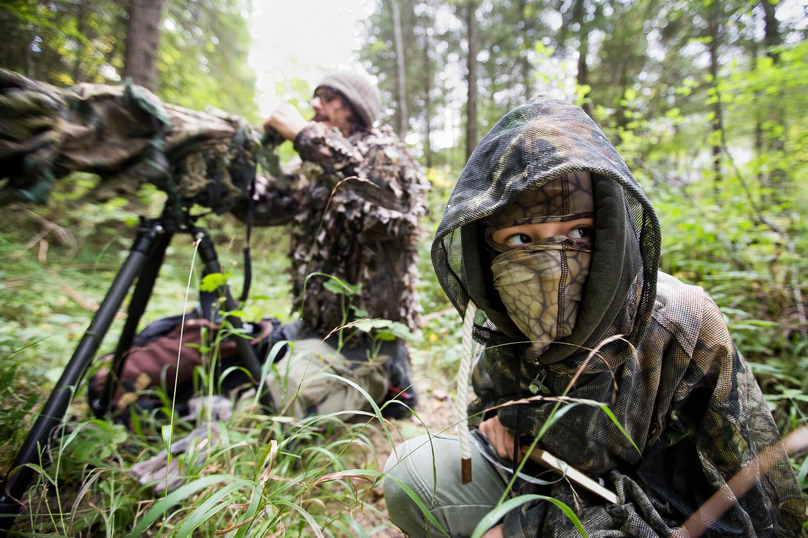 Camouflage pour la photo animalière