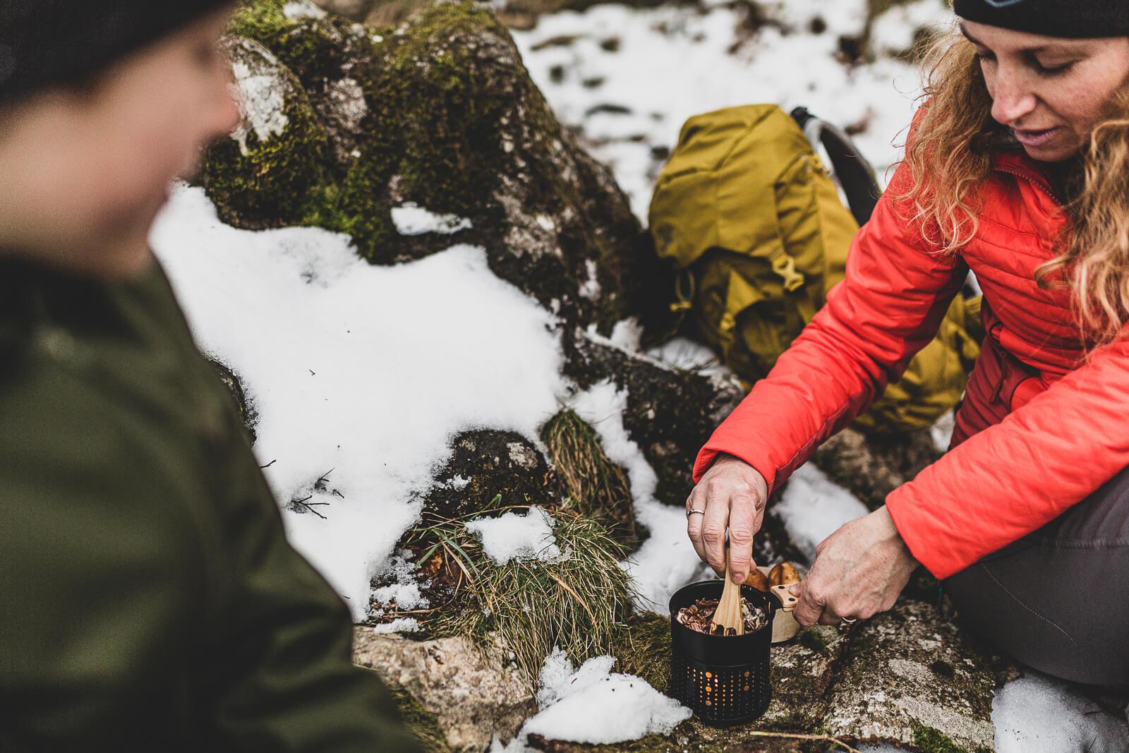 fondue au chocolat dans la nature