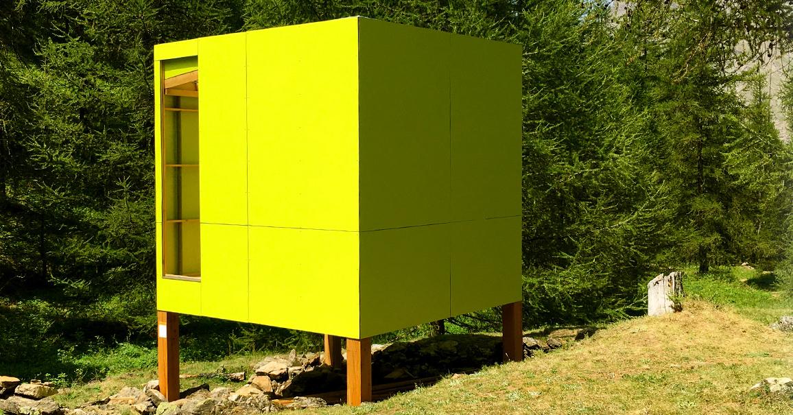 cabane cube prairie - crévoux