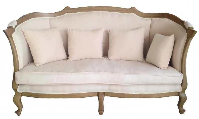 canapé ancien bois tissu