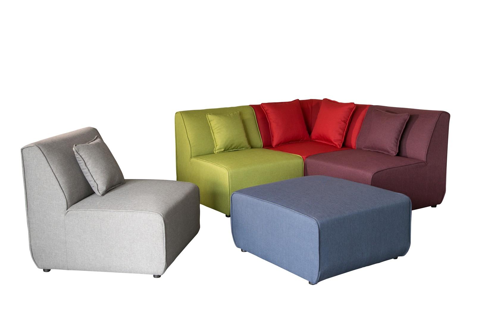 canapé bois tissu