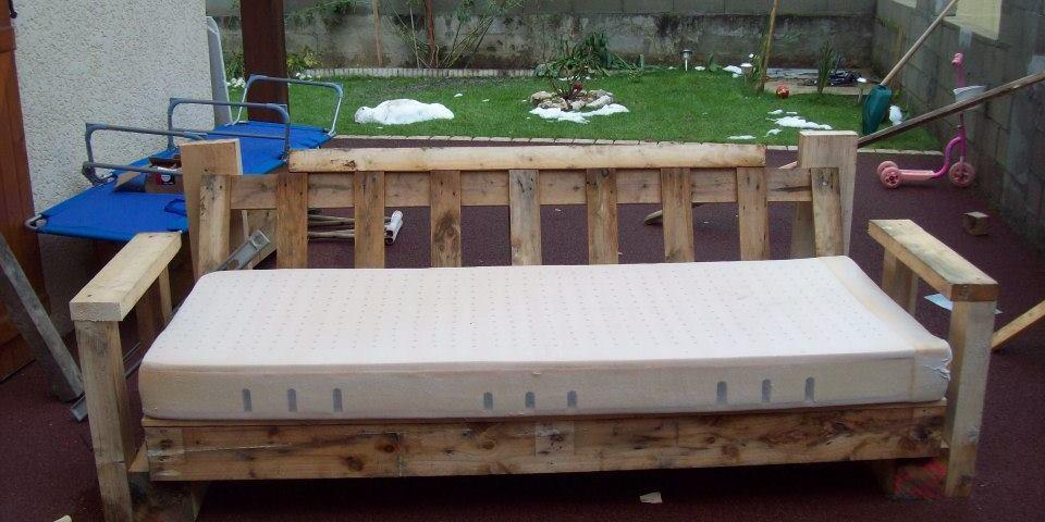 canape en palette bois