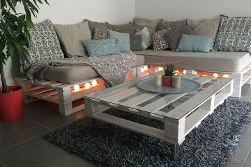 canapé en palette extérieure