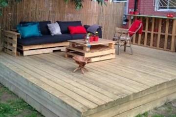 canapé de jardin en palette tuto