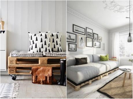 canapé lit palette