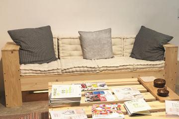 canapé palette futon