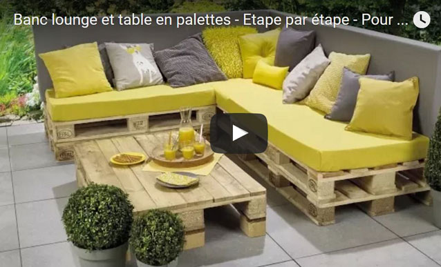 comment faire salon en palette