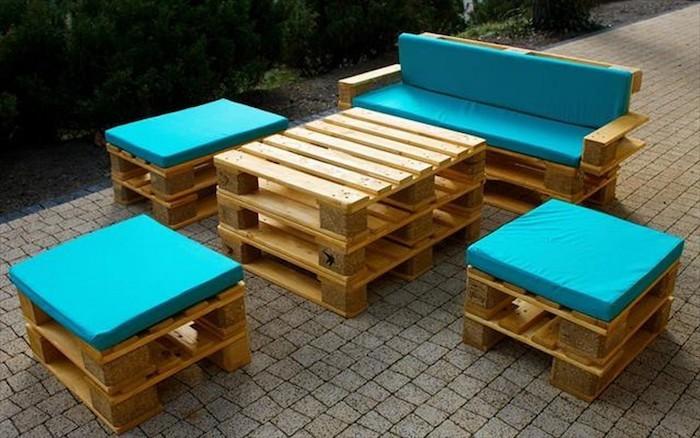 canapé avec palette bois