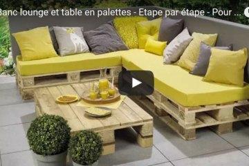 Salon De Jardin En Palette Plan