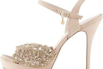 chaussures de mariée rose poudre