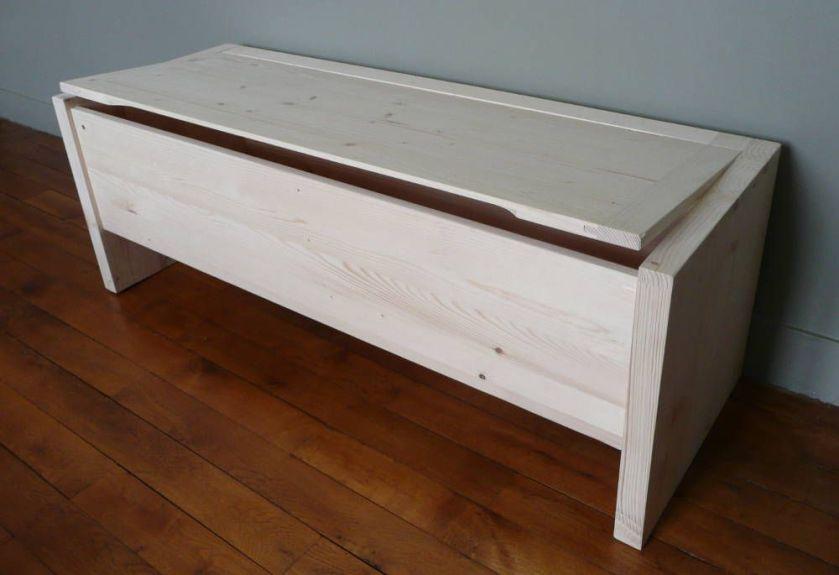 banc de rangement en bois