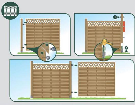 panneau clôture aluminium extérieur