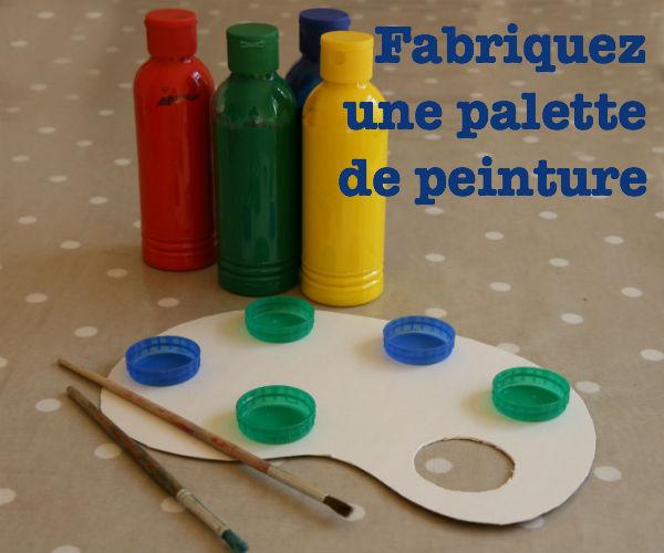 palette de peinture acrylique