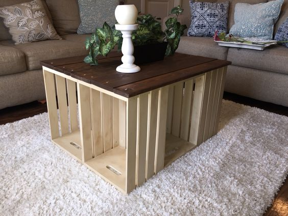 fabrication table basse palette