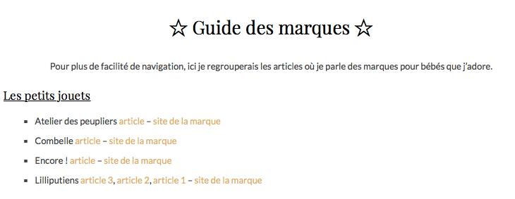 guide des marques