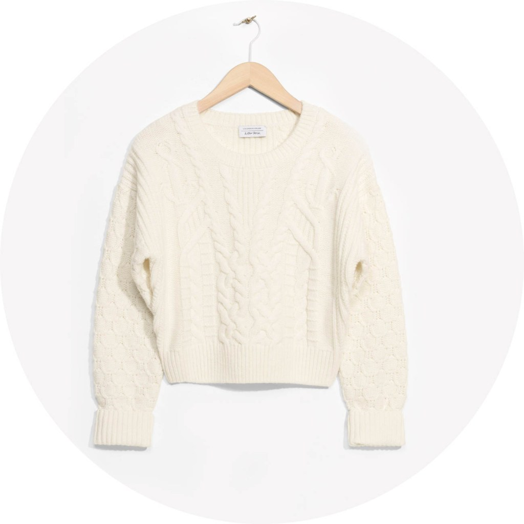 &-other-stories-cable-knit-sweater-off-white-soldes-femme