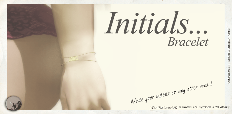 Initials Bracelet poster, showing and arm wearing the bracelet
