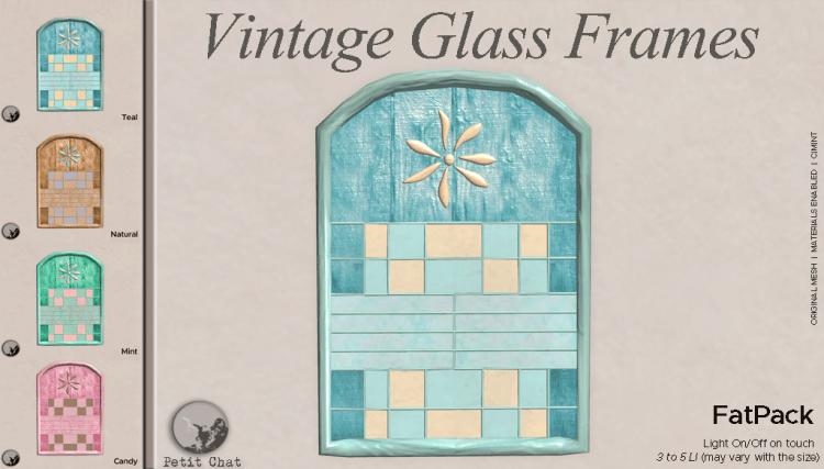 Vintage Glass Frames @ TCF graphic