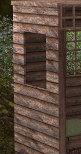 details on the wooden planks