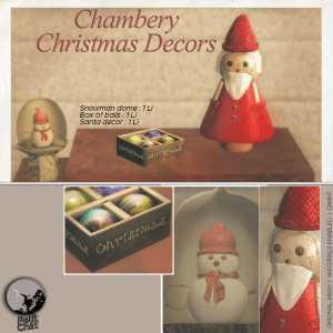 Christmas decors poster