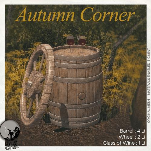 Autumn Corner : New release graphic
