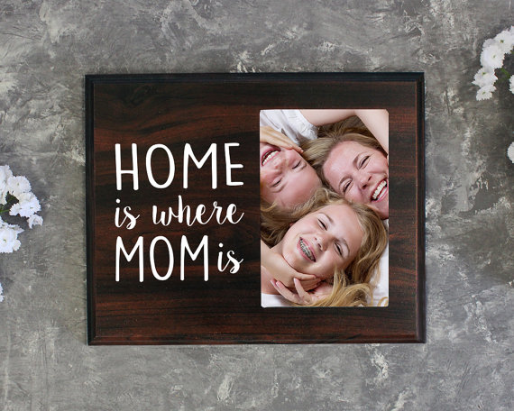 Home is Where Mom is Picture Frame by Elegant Signs   Mother's Day GIft Guide