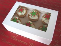 Christmas White Rocky Road Star Cupcakes
