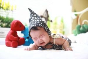 Bébé en train de pleurer