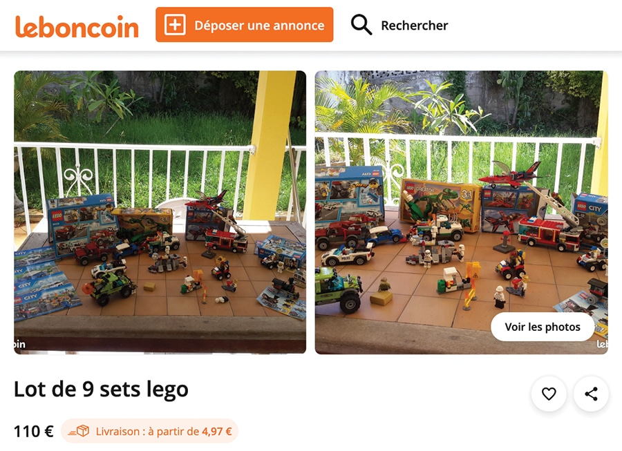 Un ensemble de LEGO très bon marché sur le site du Bon Coin