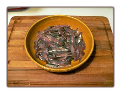Filets d'anchois frais