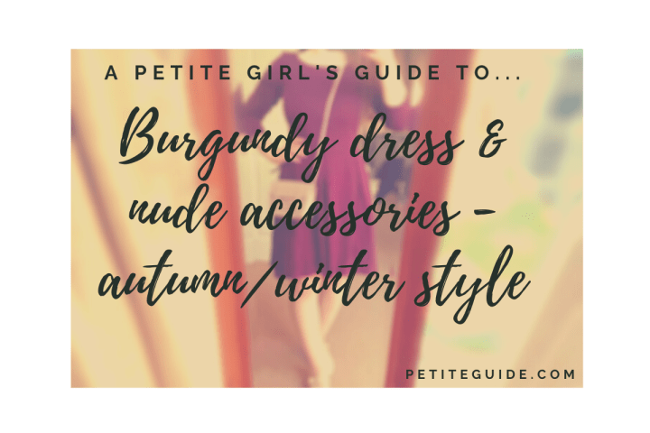 Burgundy Dress and Nude Accessories – Autumn Winter Style