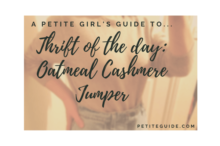 Thrift of the Day: Oatmeal Cashmere Jumper