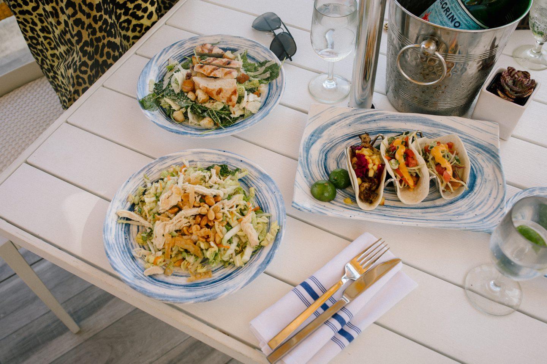 Temple Orange Tacos and Salads