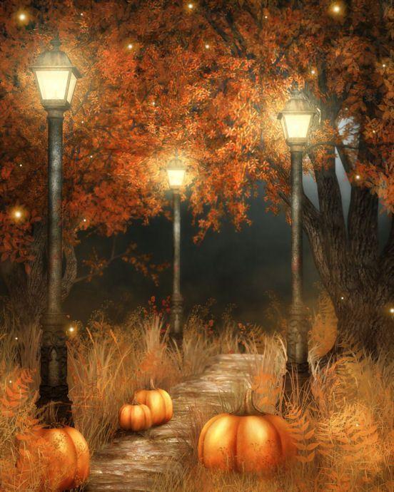 Whimsical Fall Desktop Wallpaper Tube Fond Image Paysage