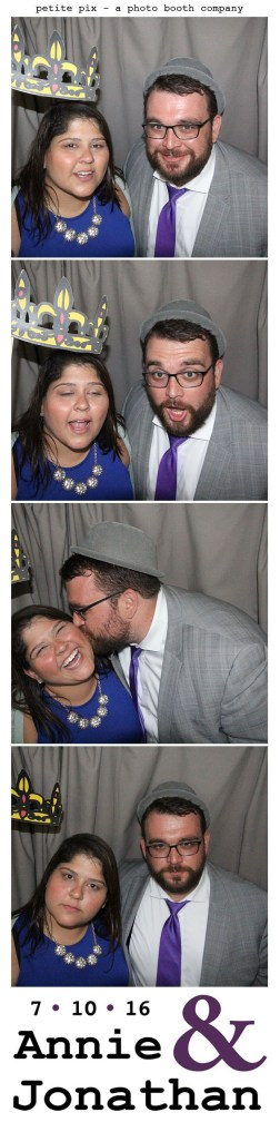 Petite Pix Classic Photo Booth at the Cicada Club in Downtown Los Angeles for Annie and Jonathan's Wedding 12