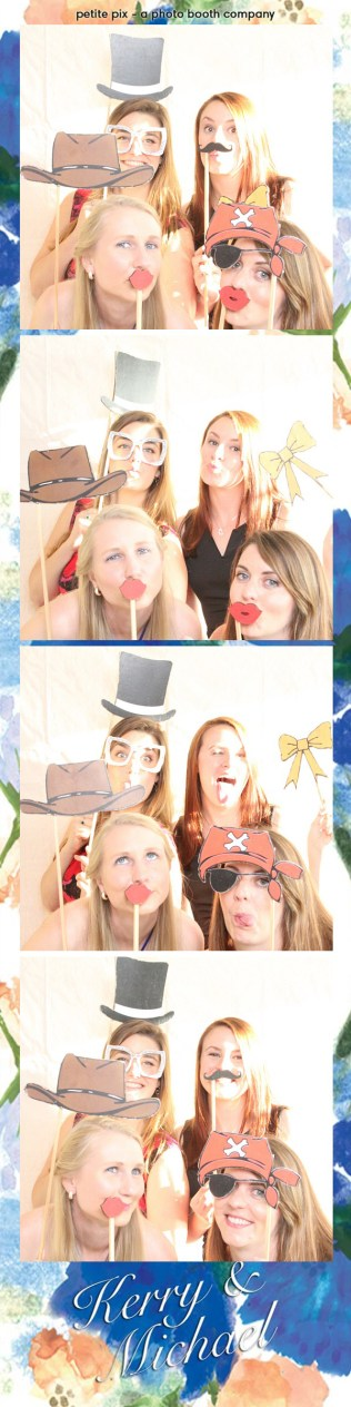 Petite Pix Vintage Photo Booth at the Redondo Beach Historic Library for Kerry and Michael's Wedding 2