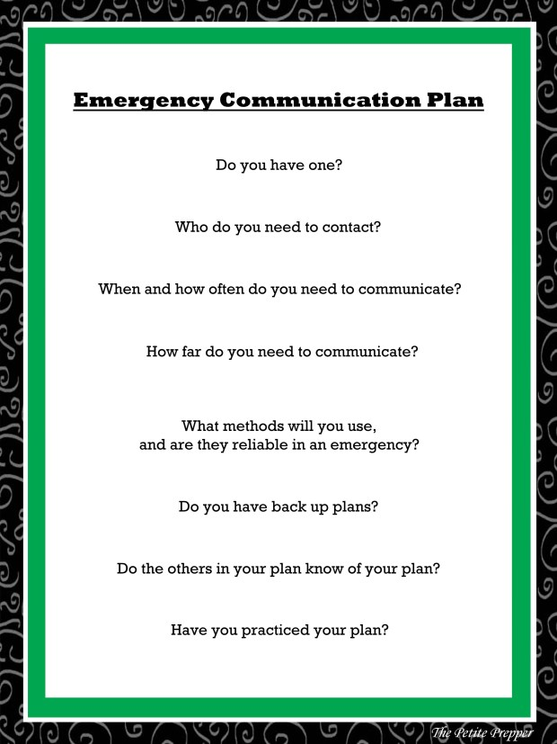 Emergency Communication Plan Graphic