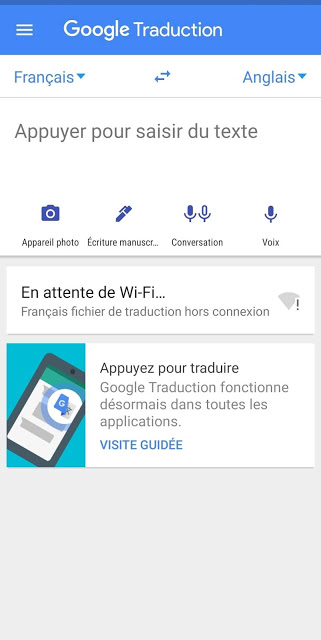 capture écran google traduction