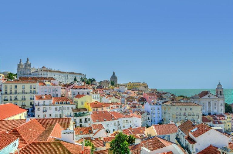 vue sur les immeubles à Lisbonne