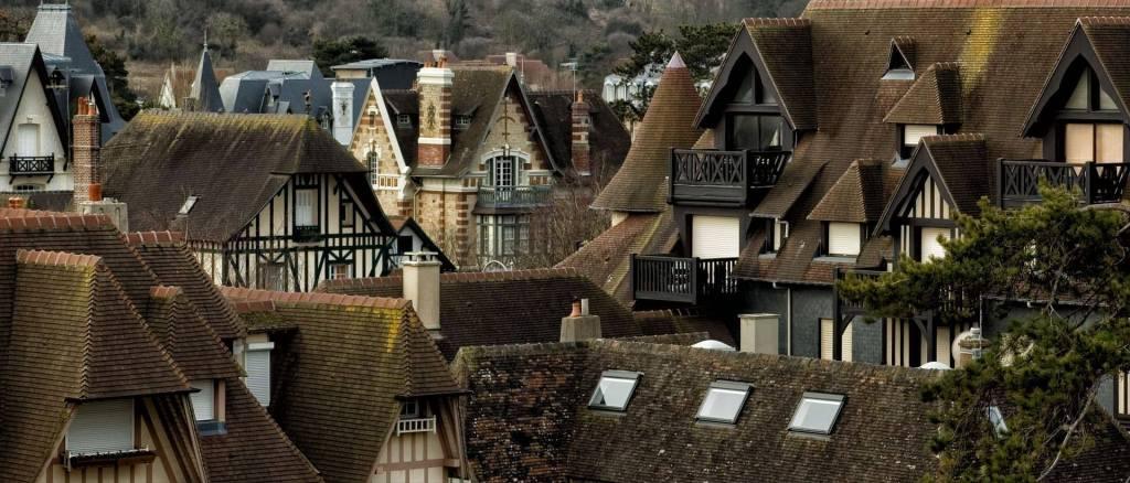 toit des maisons à deauville