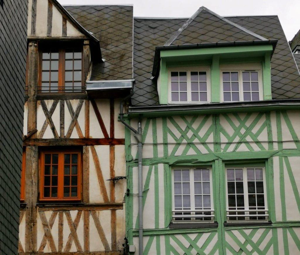 façades maisons colorées à Rouen