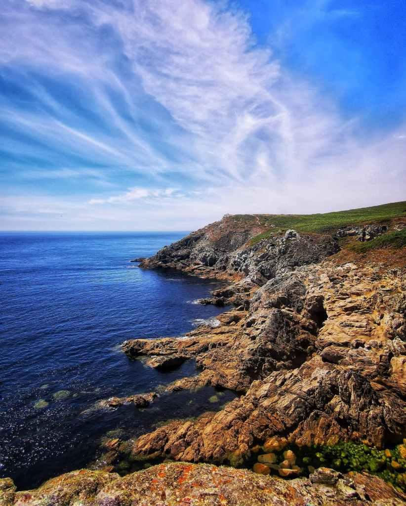 falaises et vue sur l'océan